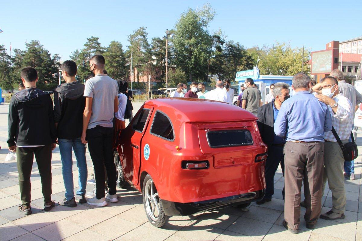 Erzurum da imam hatipli öğrenciler, Tesla ya rakip elektrikli araç üretti #3