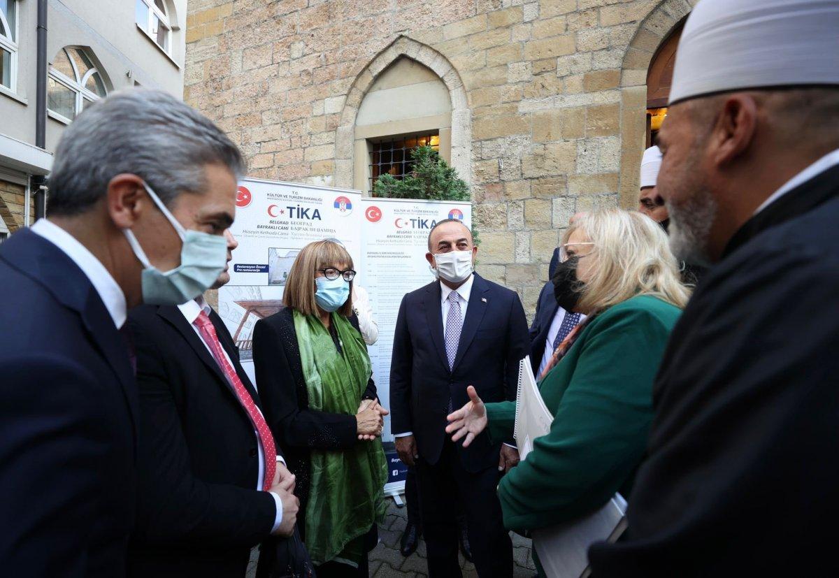 Mevlüt Çavuşoğlu, Sırbistan'da Bayraklı Camii'ni ziyaret etti #2