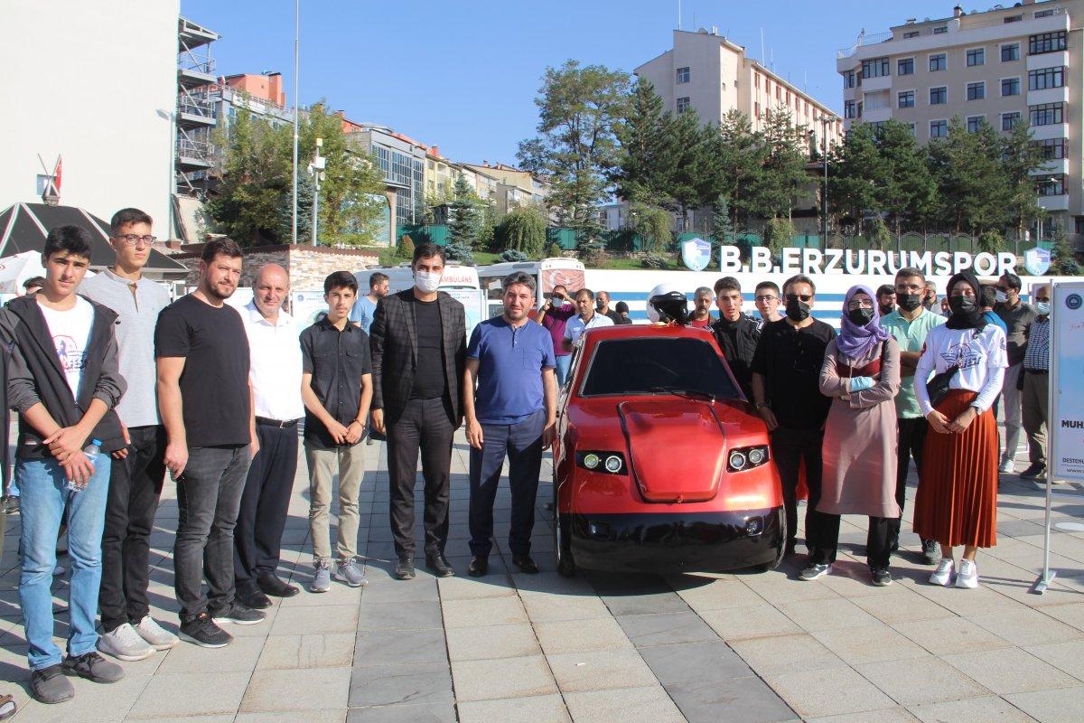 Erzurum da imam hatipli öğrenciler, Tesla ya rakip elektrikli araç üretti #2