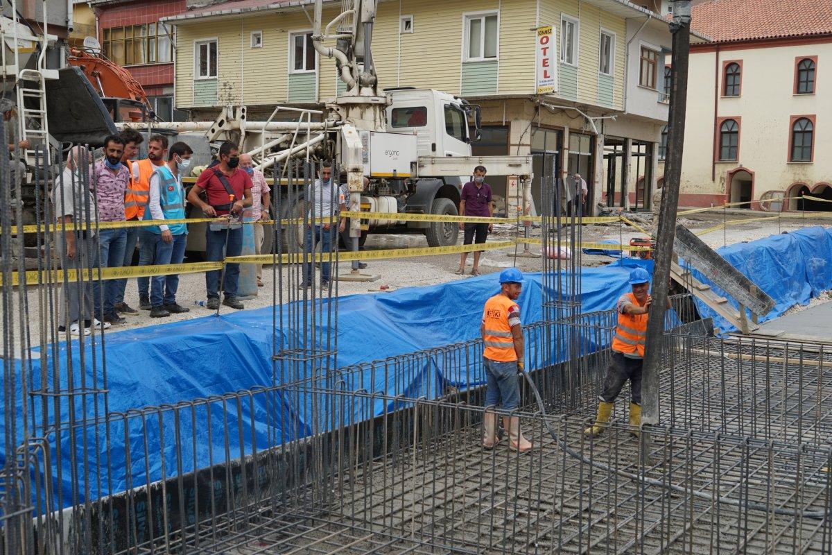 TOKİ, selde yıkılan 16 iş yerinin temelini attı #2