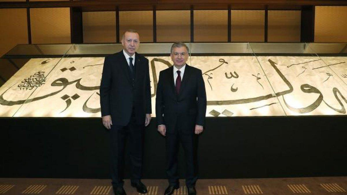 Cumhurbaşkanı Erdoğan, Özbekistanlı mevkidaşıyla görüştü #1