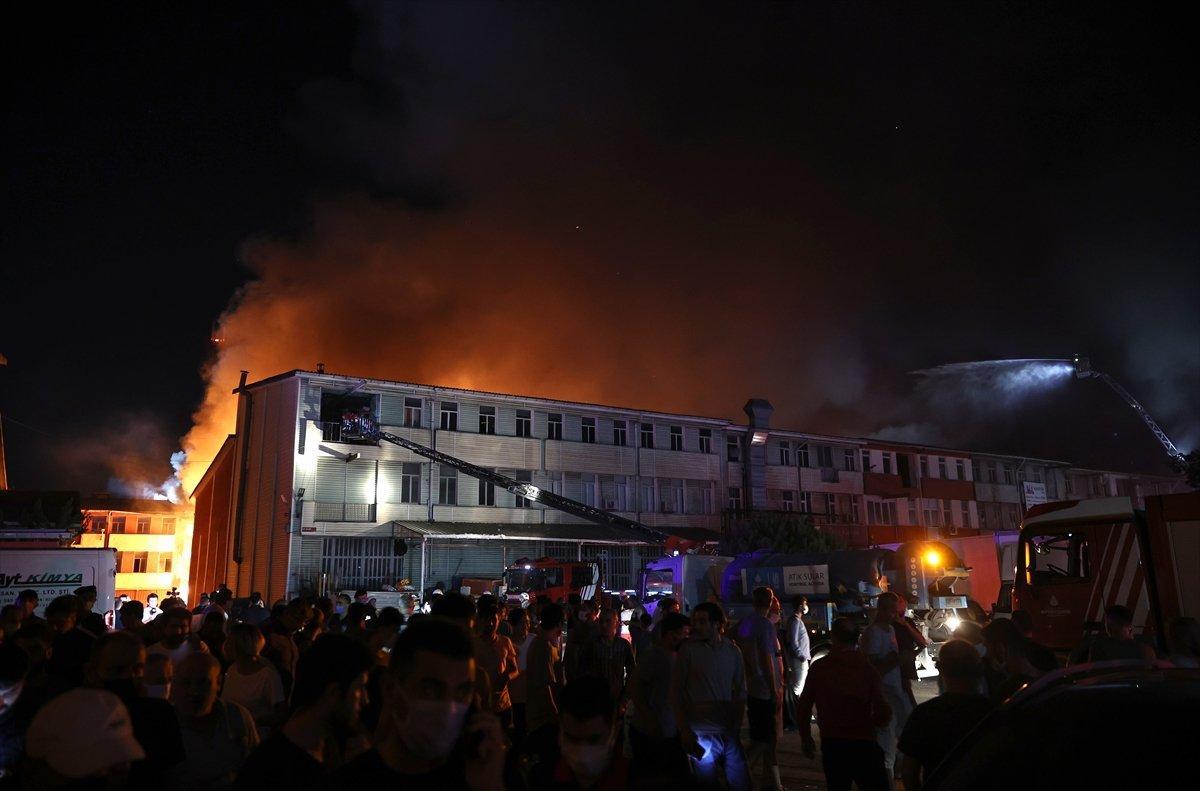 İstanbul, İkitelli Çevre Sanayi Sitesi nde yangın çıktı #7