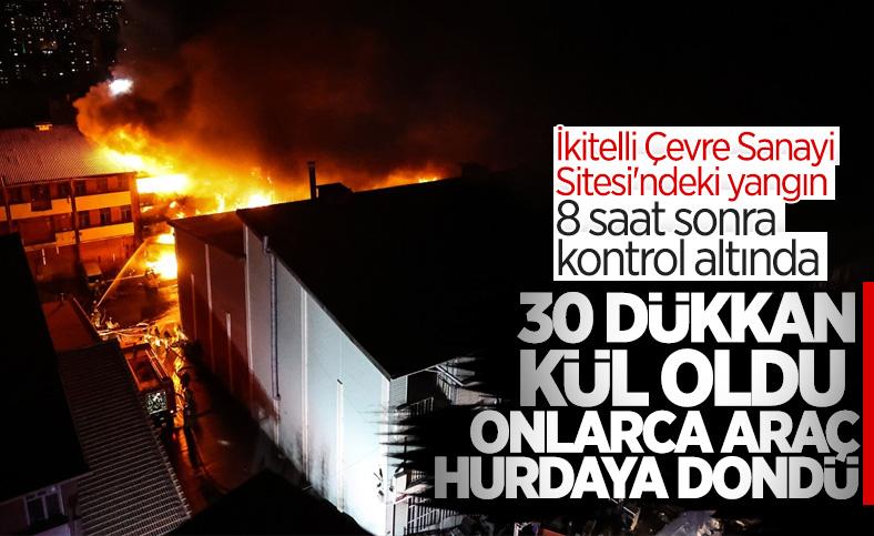 İstanbul, İkitelli Çevre Sanayi Sitesi'nde yangın çıktı