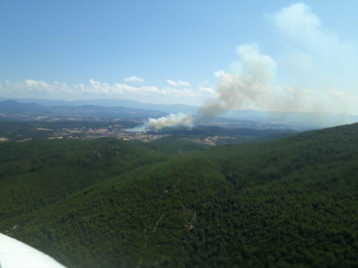Çanakkale'de ormanlık alanda yangın çıktı  #3