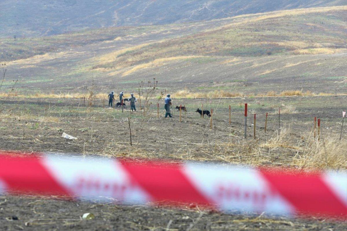Azerbaycan da işgalden kurtarılan kentlerde 10 aydır mayın temizliği yapılıyor #4