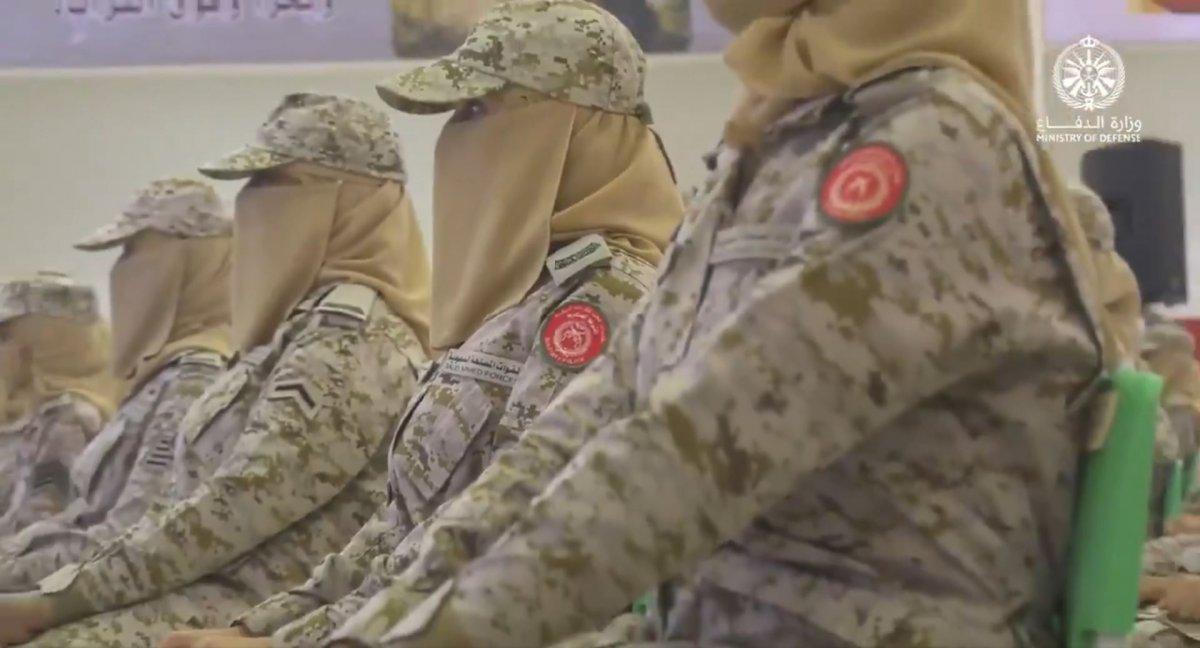 Suudi Arabistan'da ilk: Kadın askerler mezun oldu #7