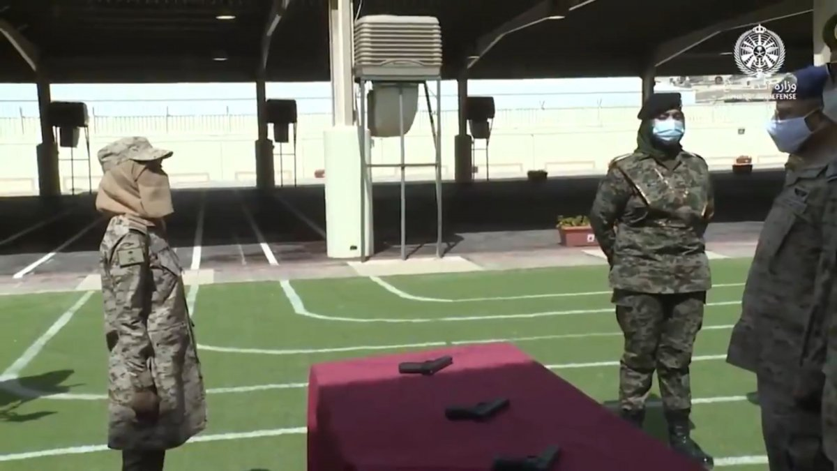 Suudi Arabistan'da ilk: Kadın askerler mezun oldu #8