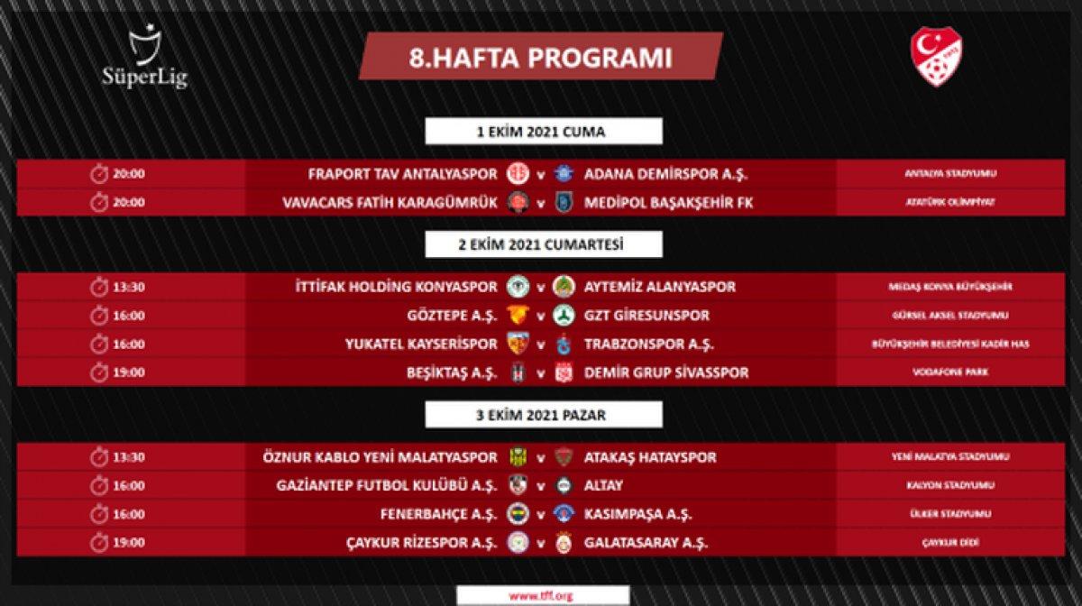 Süper Lig de 4 ile 16.hafta arası programı açıklandı #5