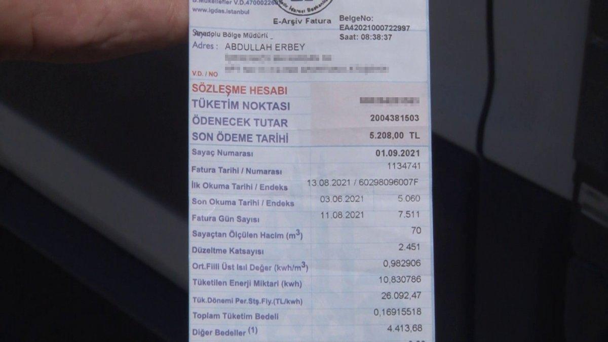 İstanbul da yaz ayında gelen 5 bin 208 TL doğalgaz faturası #1