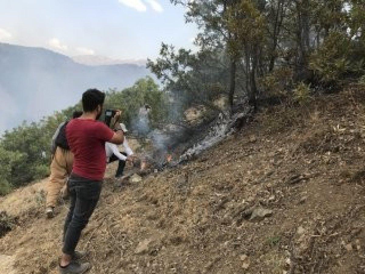 Şemdinli'de orman yangını kontrol altına alındı #5