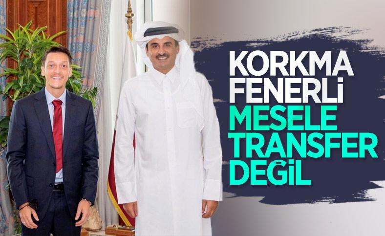 Mesut Özil, Katar Emiri Şeyh Temim ile birlikte