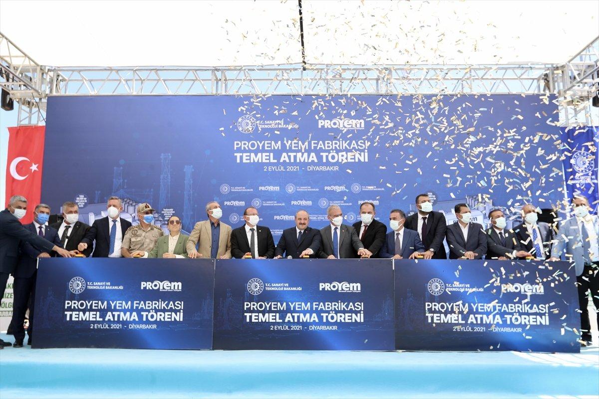 Mustafa Varank, Diyarbakır da Türkiye nin en büyük entegre yem fabrikasının temelini attı #1