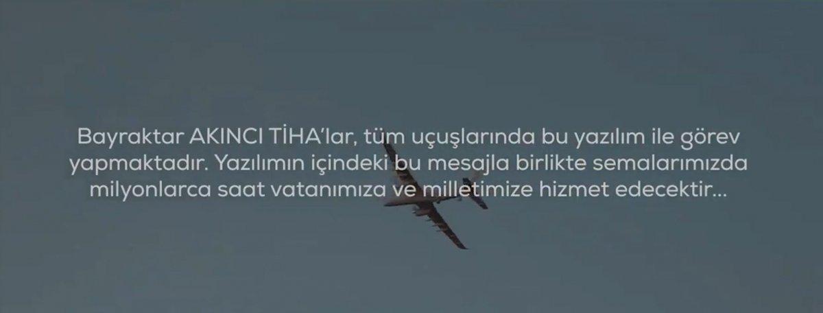 AKINCI TİHA, Cumhurbaşkanı Erdoğan'ın mesajıyla uçacak #2