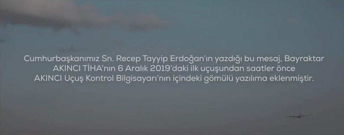 AKINCI TİHA, Cumhurbaşkanı Erdoğan'ın mesajıyla uçacak #1
