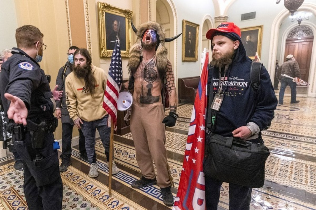 ABD Kongresi'ni basan  boynuzlu adam  mahkemede suçunu kabul etti #2