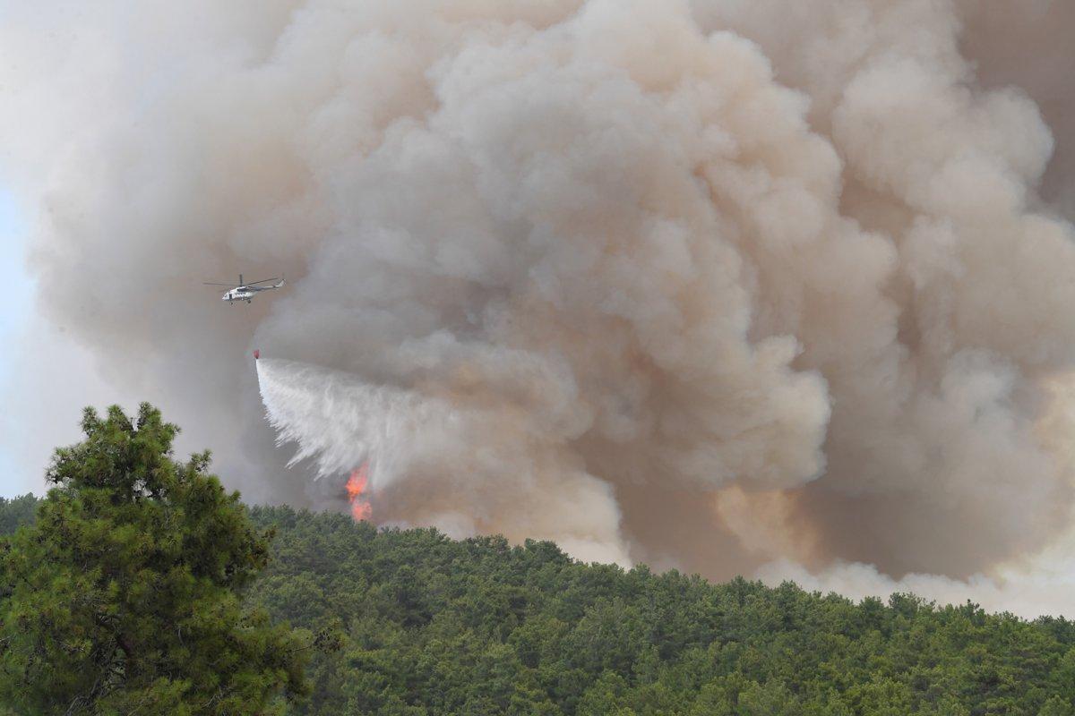 Antalya da yangınların önüne geçmek için ormanlara giriş yasağı uzatıldı #4
