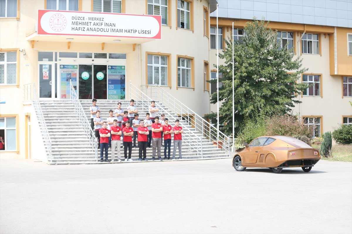 Düzce'de imam hatipli öğrenciler elektrikli araç tasarladı  #3