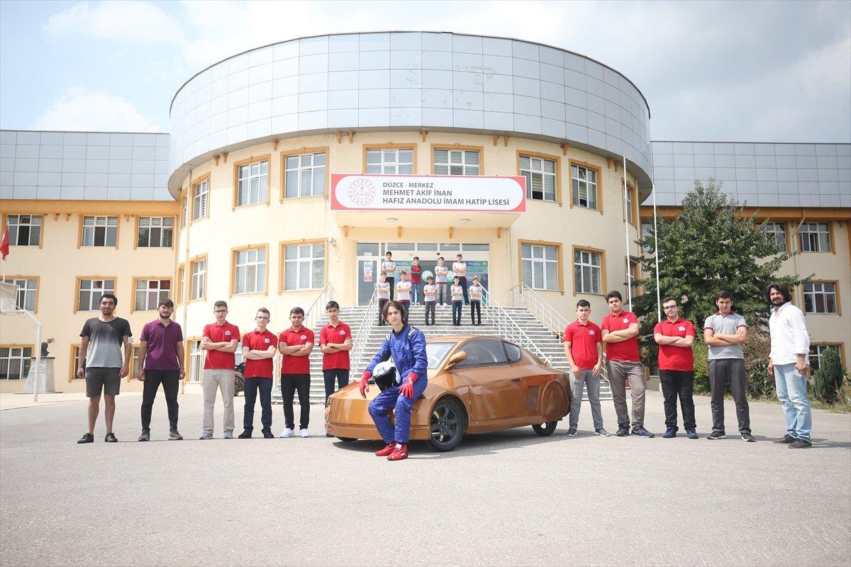 Düzce'de imam hatipli öğrenciler elektrikli araç tasarladı  #9