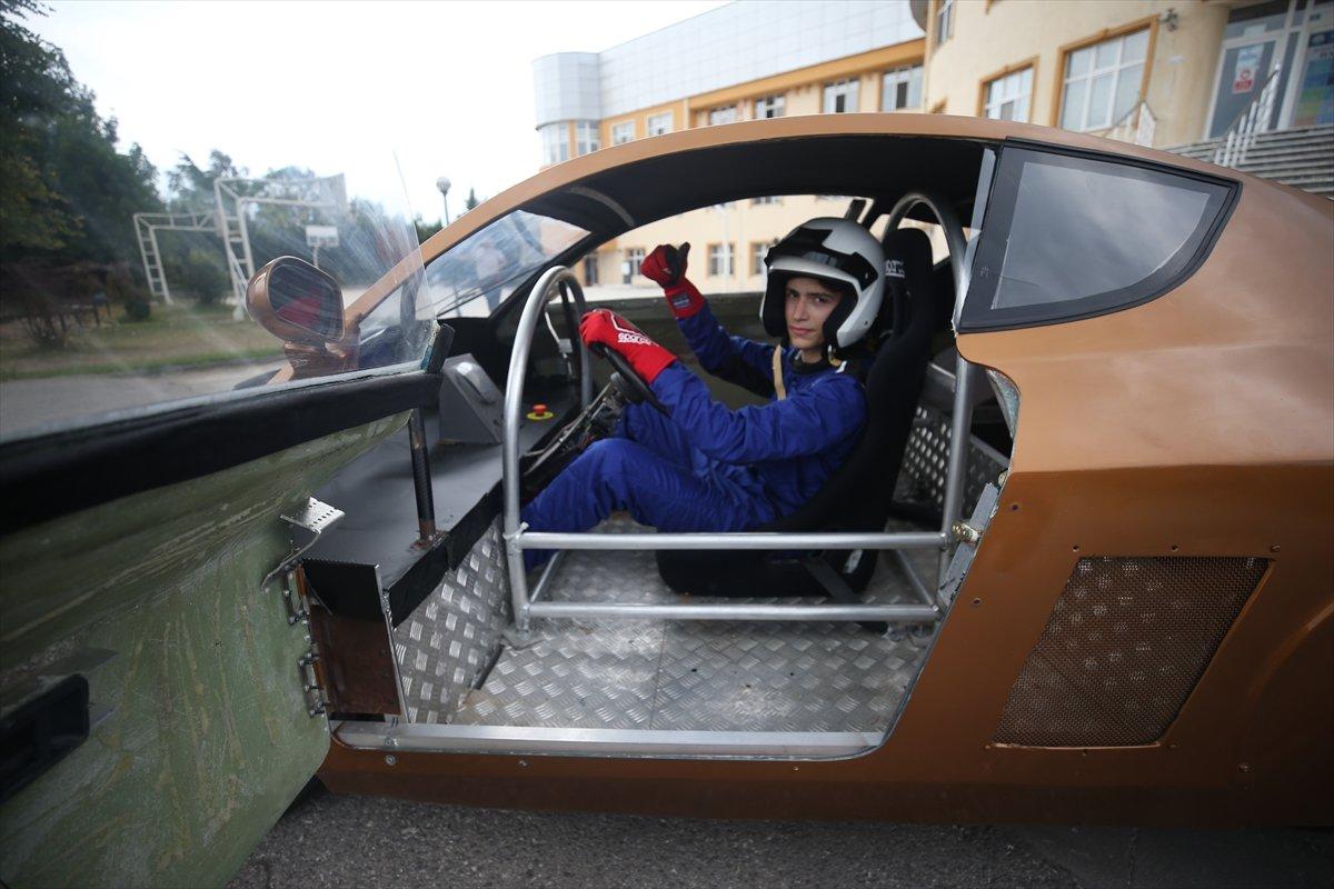 Düzce'de imam hatipli öğrenciler elektrikli araç tasarladı  #8