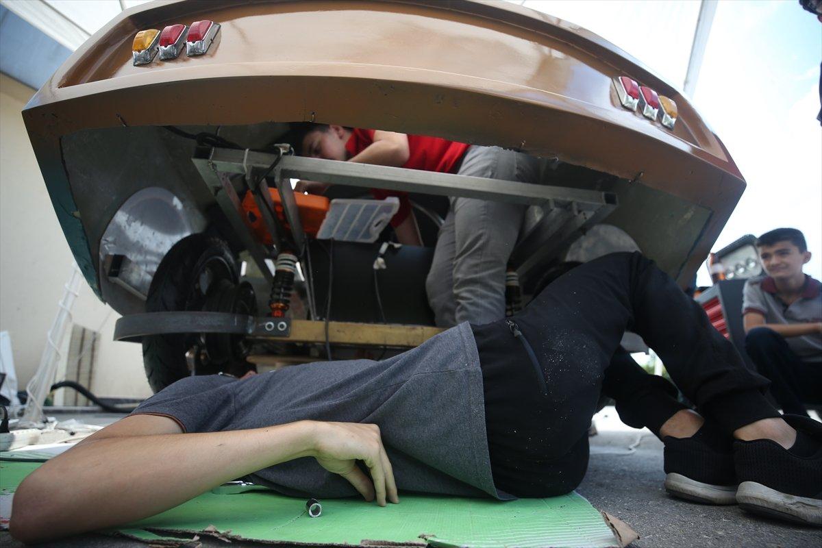 Düzce'de imam hatipli öğrenciler elektrikli araç tasarladı  #2