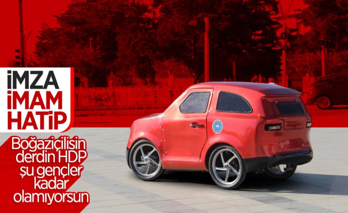 Düzce'de imam hatipli öğrenciler elektrikli araç tasarladı  #10