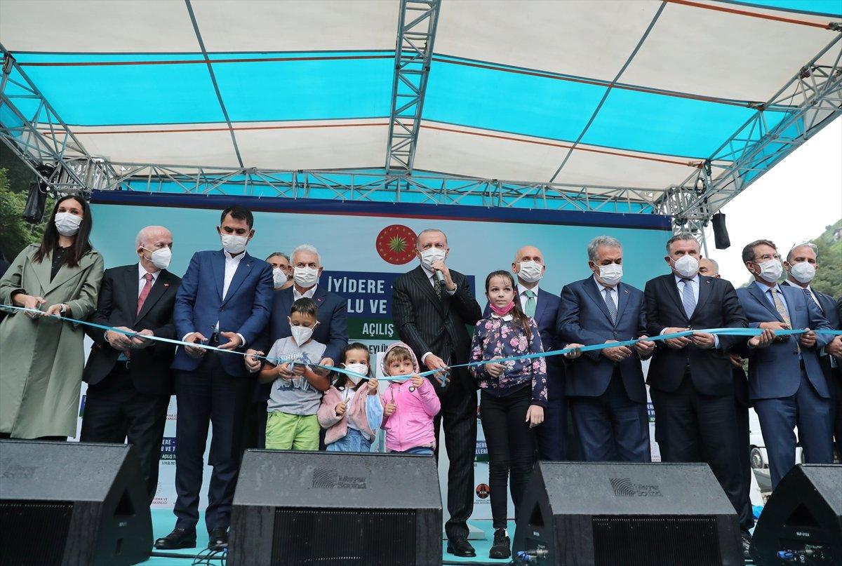 Cumhurbaşkanı Erdoğan, İyidere-İkizdere yolu açılış törenine katıldı #4