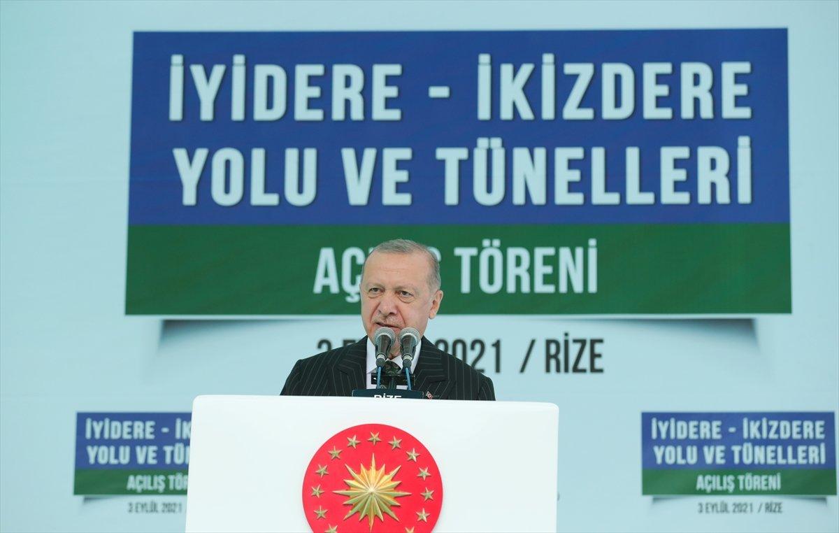 Cumhurbaşkanı Erdoğan, İyidere-İkizdere yolu açılış törenine katıldı #2