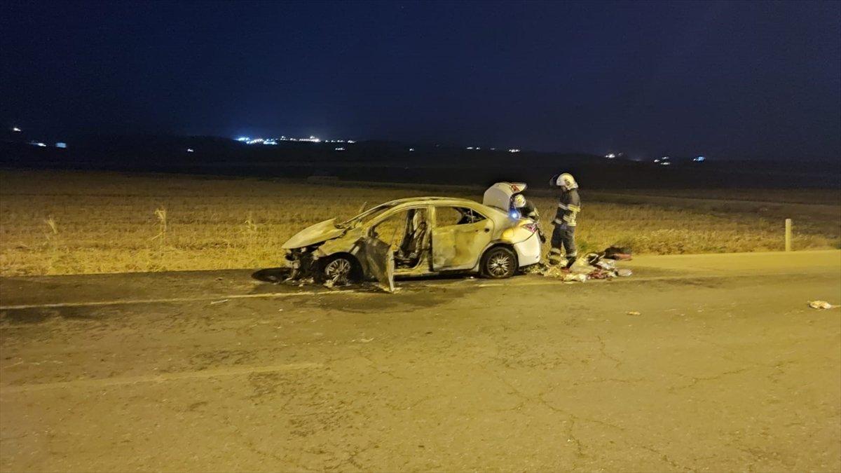 Batman da seyir halindeki araç yandı #2