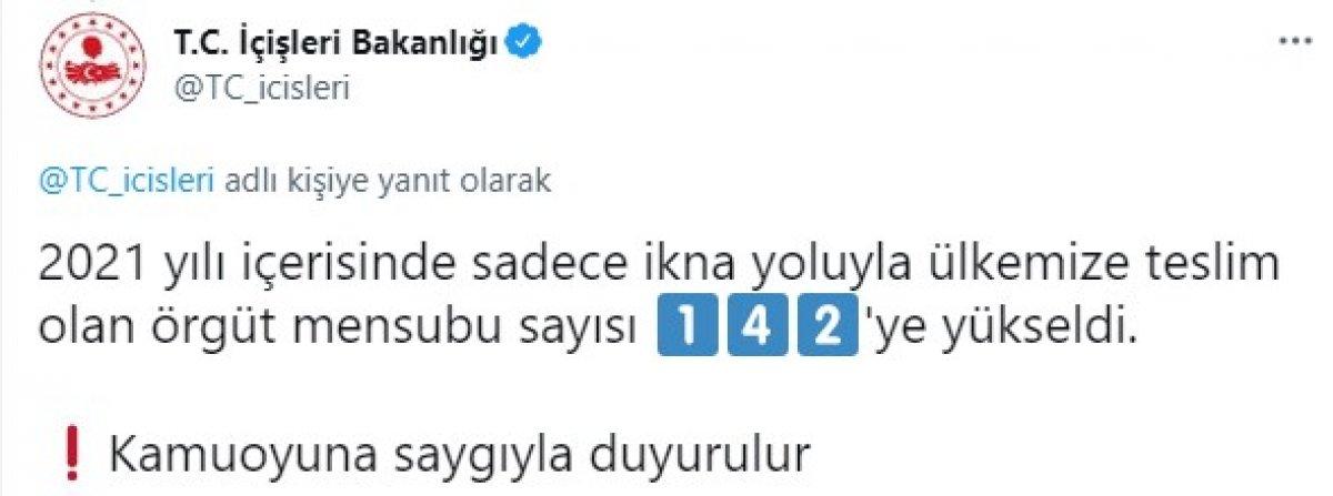 PKK dan kaçan 1 terör örgütü mensubu daha teslim oldu  #2