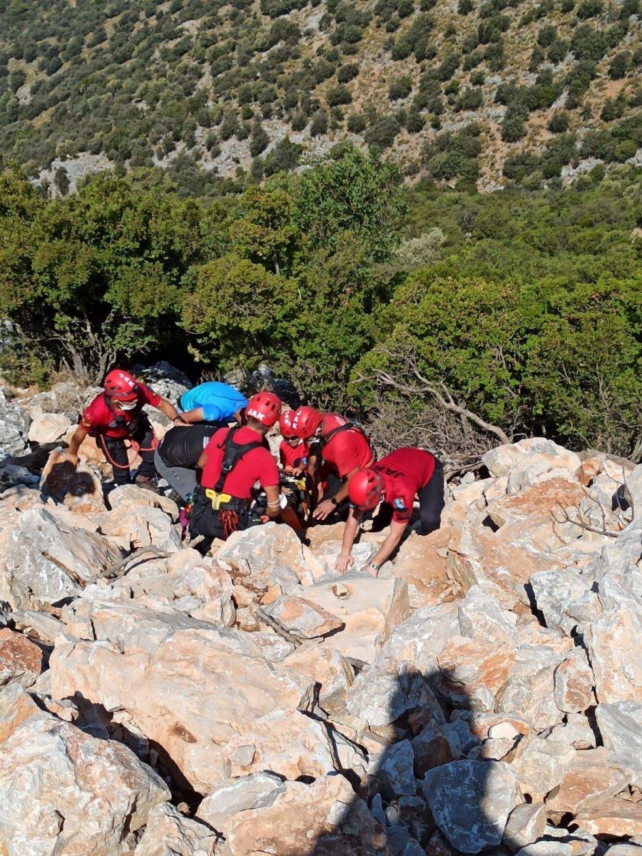 Muğla da yaralanan paraşütçünün imdadına JAK yetişti  #2