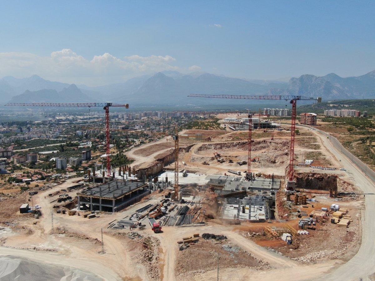 Antalya Şehir Hastanesi inşaatının yüzde 7'lik bölümü tamamlandı #4