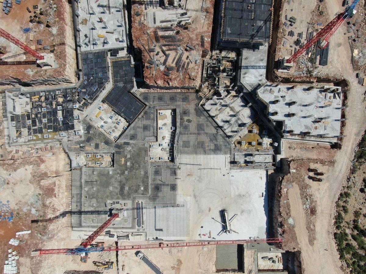 Antalya Şehir Hastanesi inşaatının yüzde 7'lik bölümü tamamlandı #5