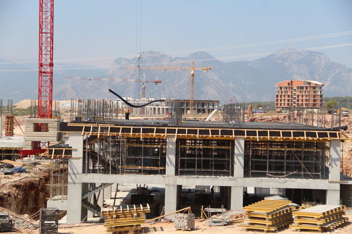Antalya Şehir Hastanesi inşaatının yüzde 7'lik bölümü tamamlandı #7
