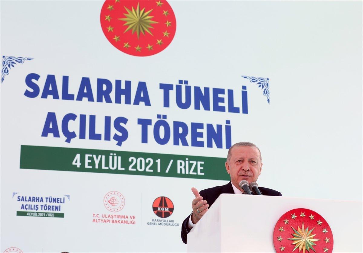 Cumhurbaşkanı Erdoğan: Salarha Tüneli ülkemize hayırlı olsun #3