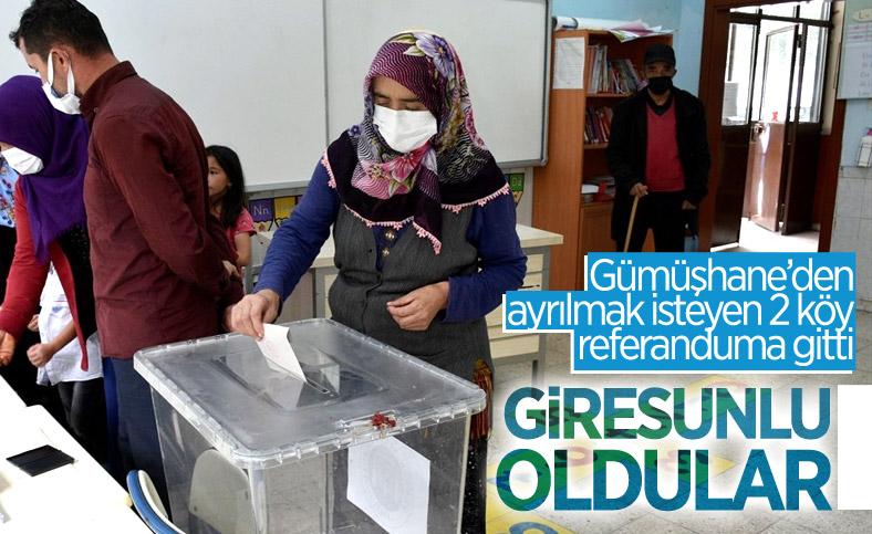 Gümüşhane'den ayrılıp Giresun'a bağlanmak isteyen 2 köyde referandum