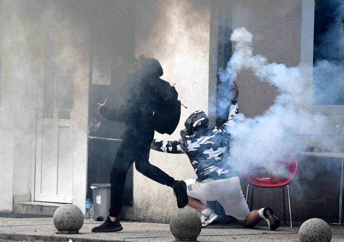 Karadağ'da taht töreni protestosu #7