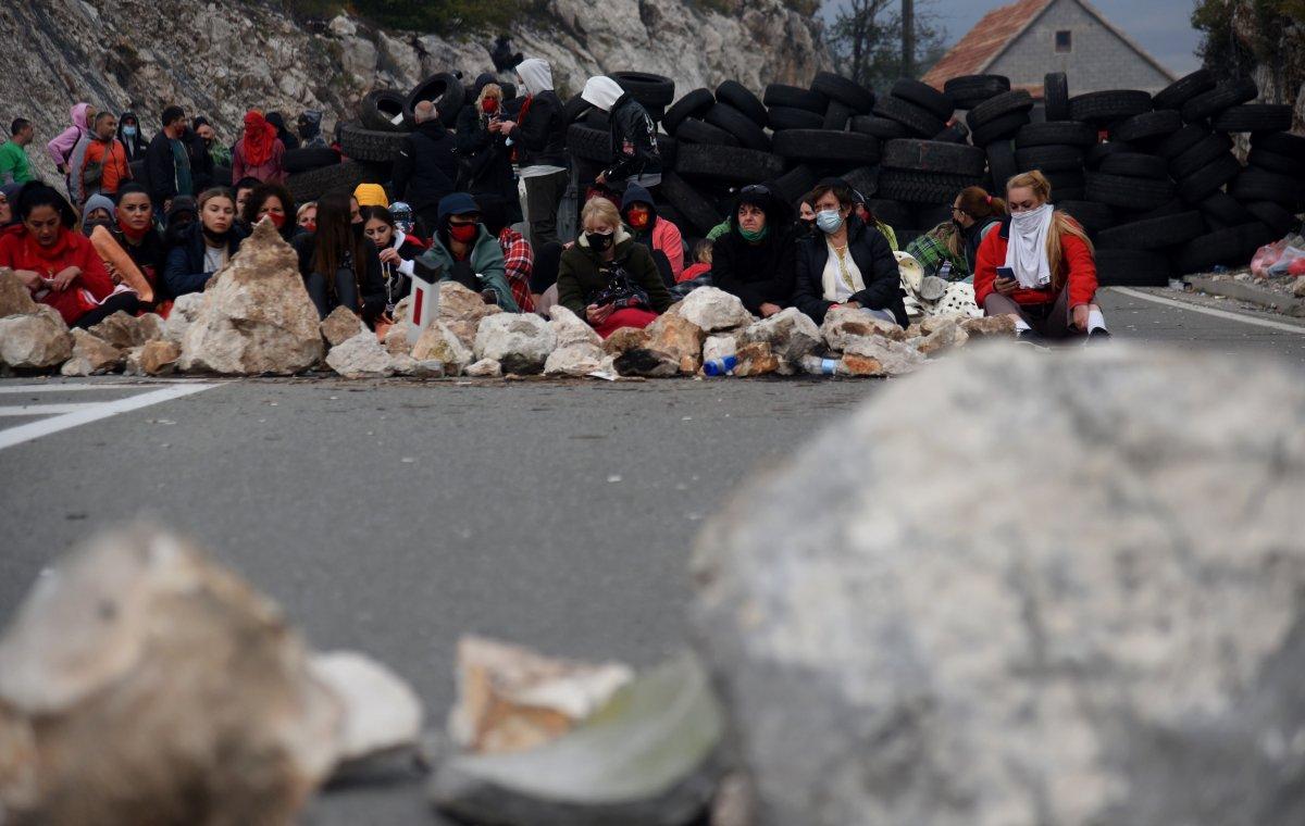 Karadağ'da taht töreni protestosu #4