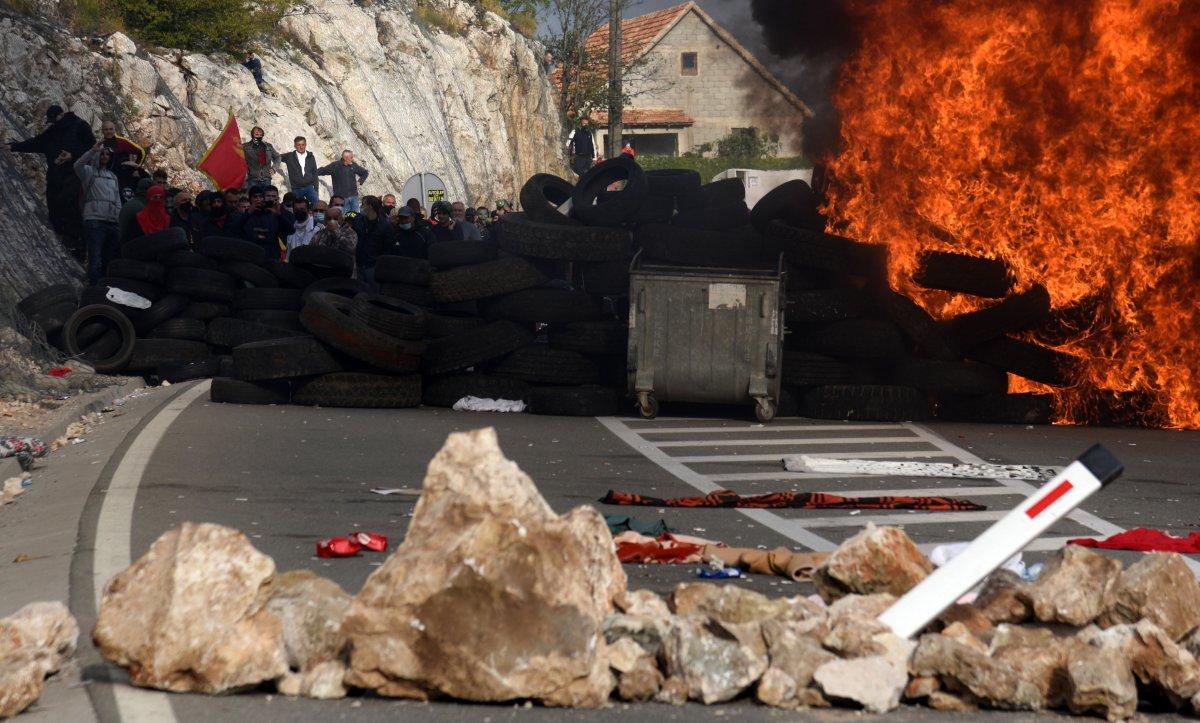 Karadağ'da taht töreni protestosu #1