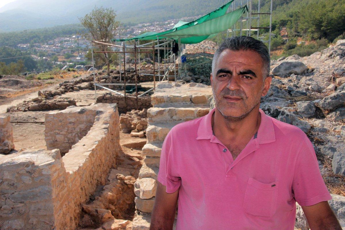 Muğla'nın Ula ilçesindeki kale surları 10 ayda ortaya çıktı #3