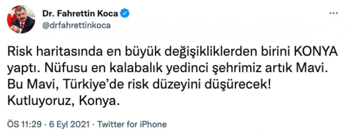 Fahrettin Koca: Konya  mavi , Muş  sarı  oldu #1
