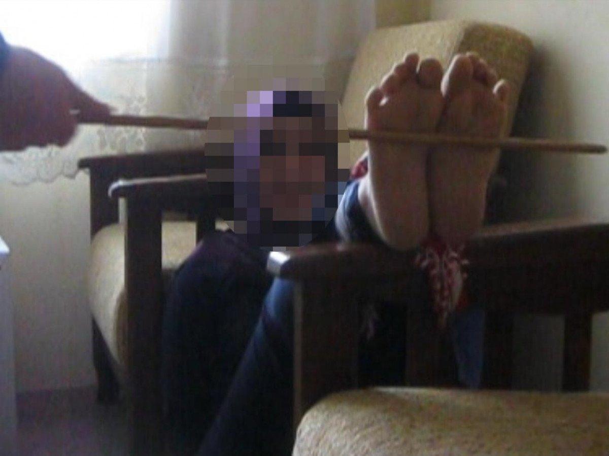 Kayseri de kadınlara para verip falakaya yatıran kargo çalışanı #2