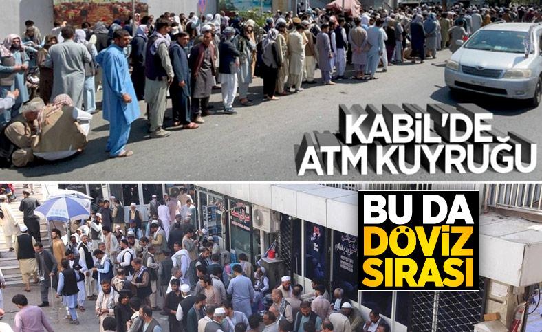 Kabil'de yeniden açılan döviz bürolarına Afgan halkı yoğun ilgi gösterdi