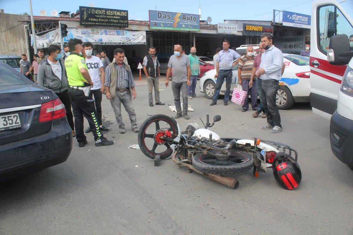 Ordu da motosiklet ile otomobil çarpıştı: 2 yaralı #2
