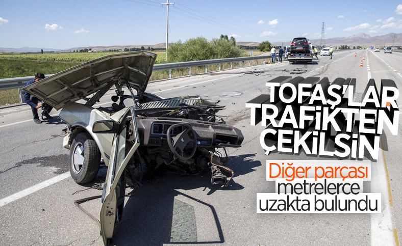 Erzurum'da otomobil kazada ikiye bölündü: 5 yaralı