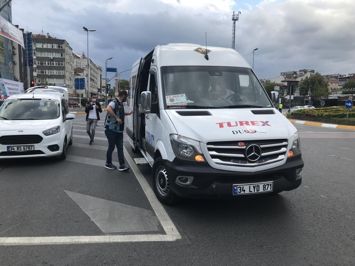 İstanbul da trafik ekiplerinden okul servislerine denetim  #3