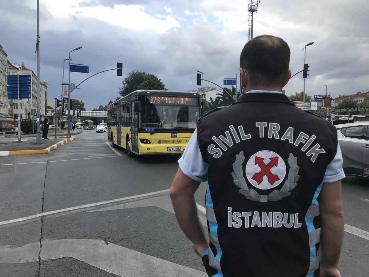 İstanbul da trafik ekiplerinden okul servislerine denetim  #6