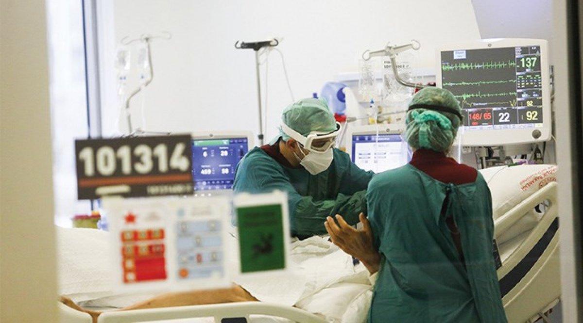 Korona sonrası yoğun bakımda yatanların aşı dağılımı #1