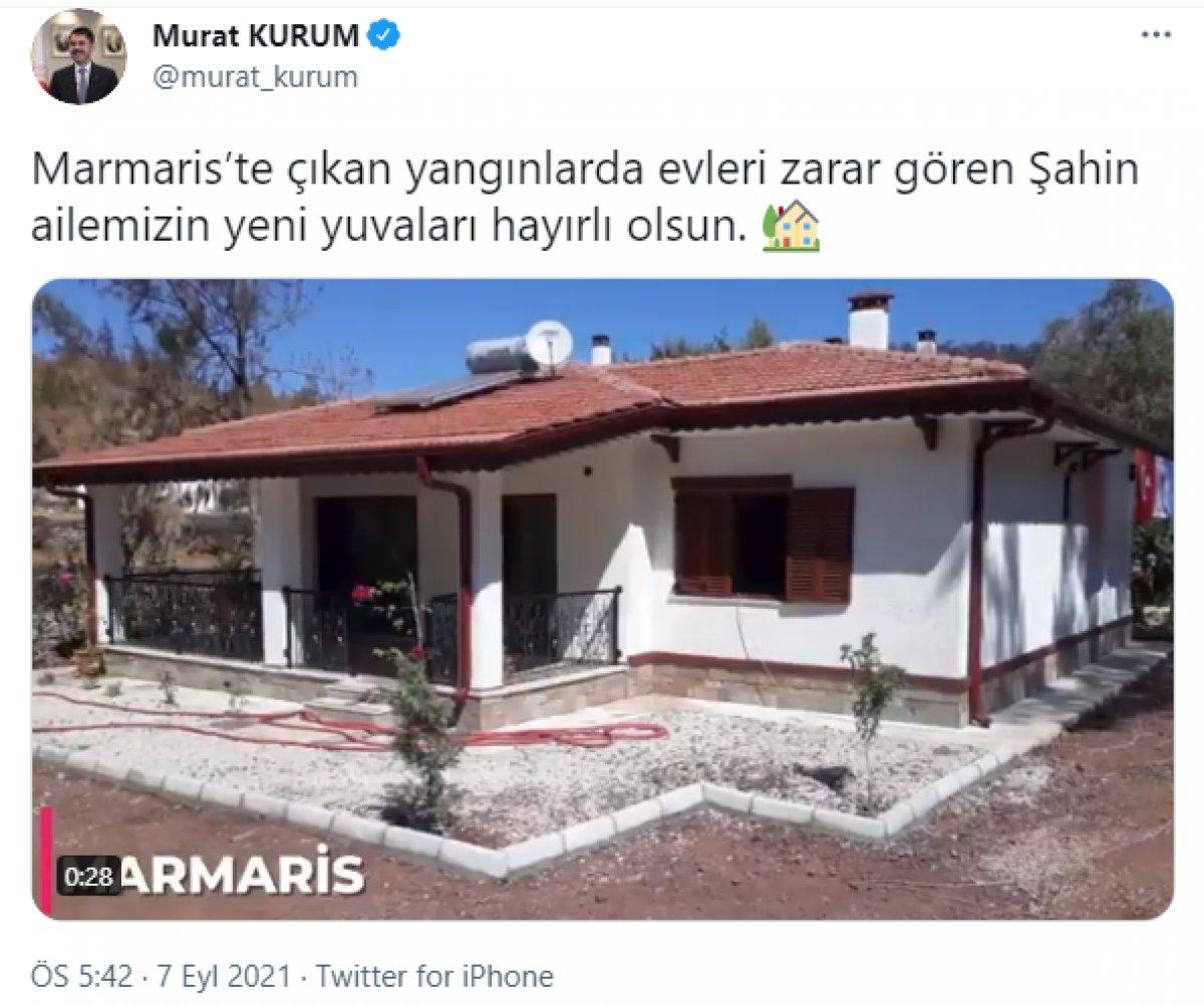 Antalya da yaşlı çifte, yanan evlerinin yerine 17 günde yenisi teslim edildi #5