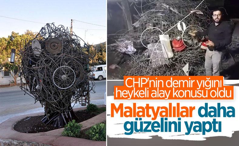CHP'nin demir heykelini tiye alan Malatyalı esnaf