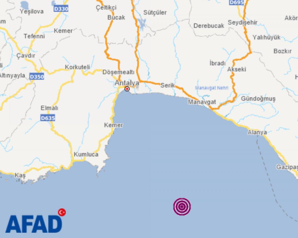 Antalya Kumluca da 4.5 büyüklüğünde deprem  #1